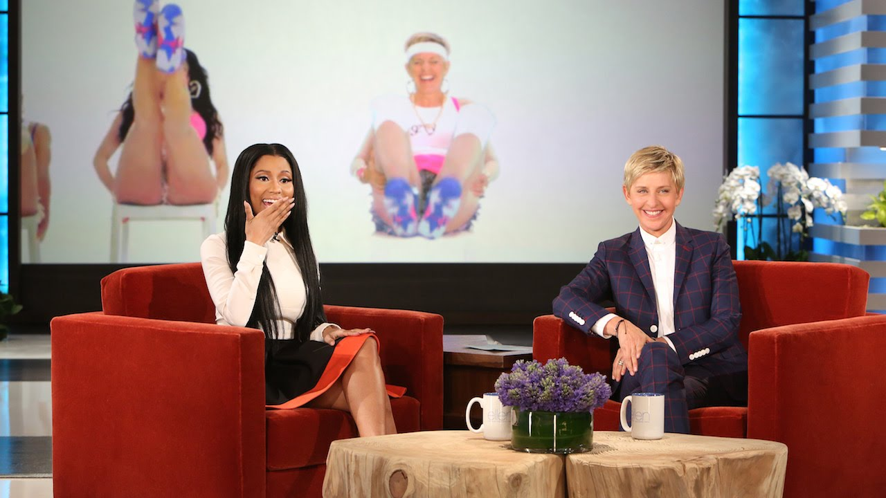 Ellen DeGeneres and Nicki Minaj